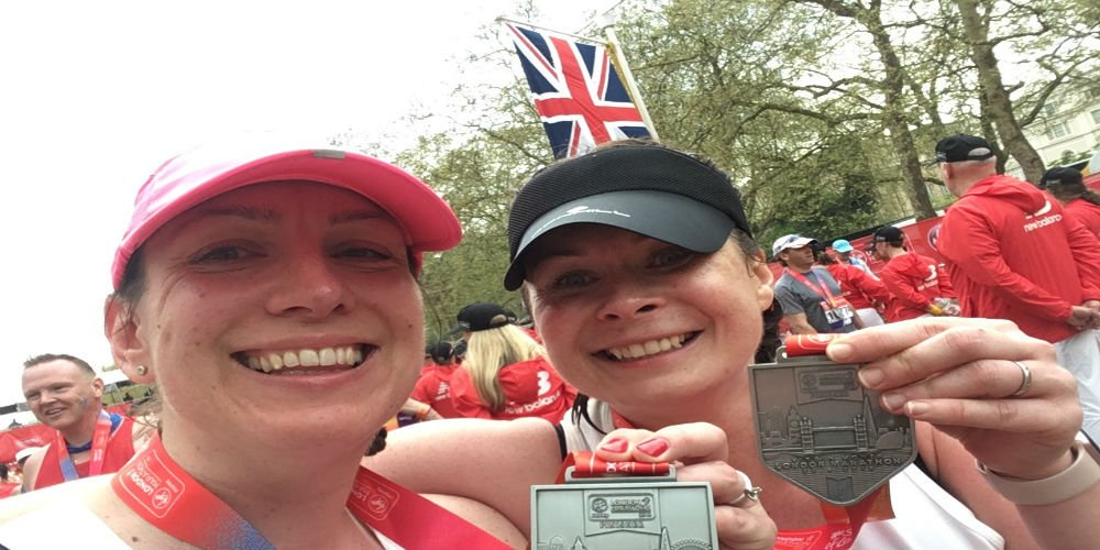 Kelly and Suzanne's marathon effort